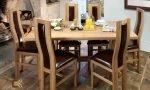 bàn ghế ăn bằng gỗ sồi