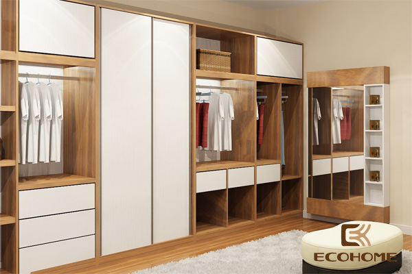 Kết quả hình ảnh cho tủ quần áo không cánh ecohome