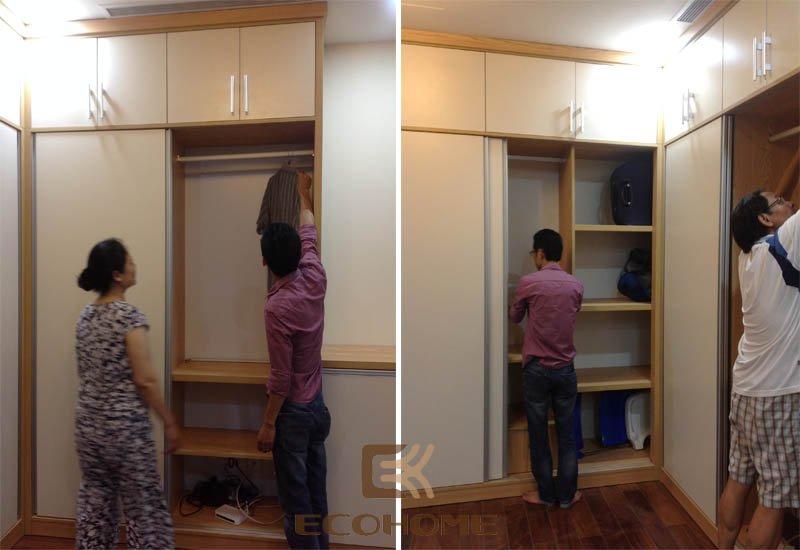 thi công tủ quần áo
