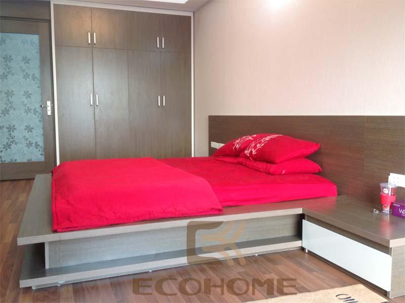 mẫu giường gỗ đẹp laminate