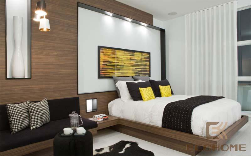 mẫu giường ngủ laminate