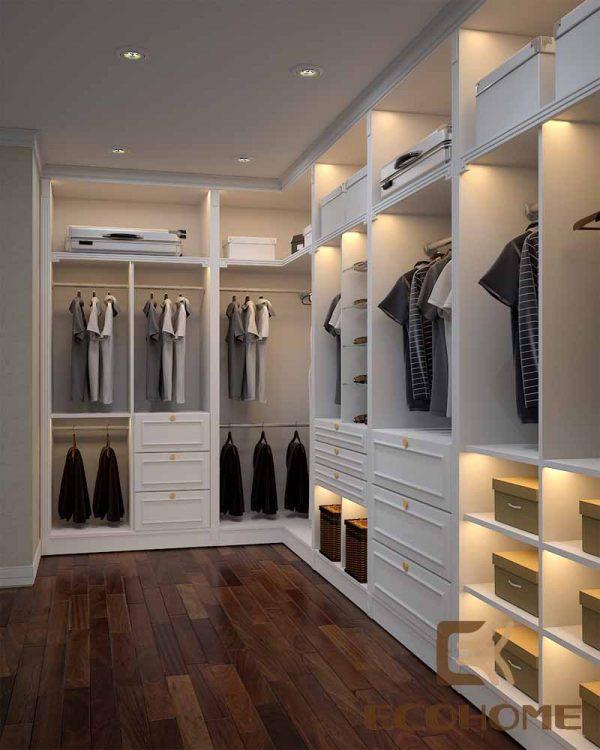 Hình ảnh thiết kế phòng thay đồ phòng cách tân cổ điển