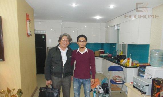 Tủ bếp gia đình nhạc sỹ Phó Đức Phương