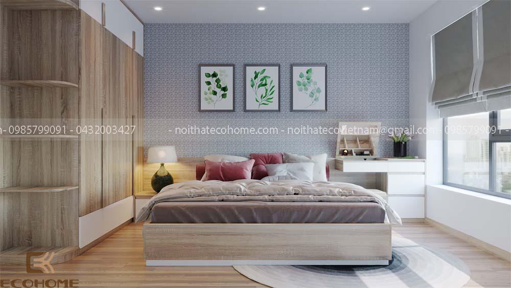 thiết kế mẫu tủ áo 4 buồng gỗ công nghiệp