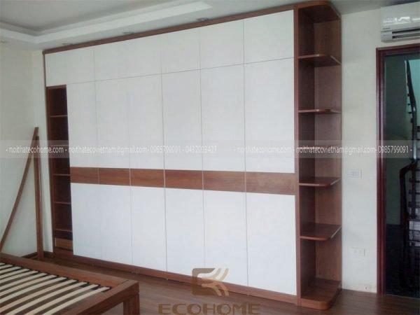 Mẫu tủ quần áo 6 buồng gỗ công nghiệp An Cường