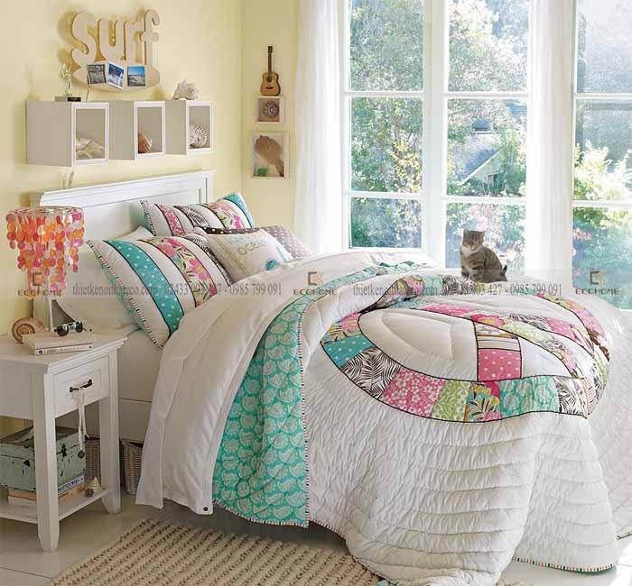 mẫu phòng ngủ cho bé gái 15 tuổi