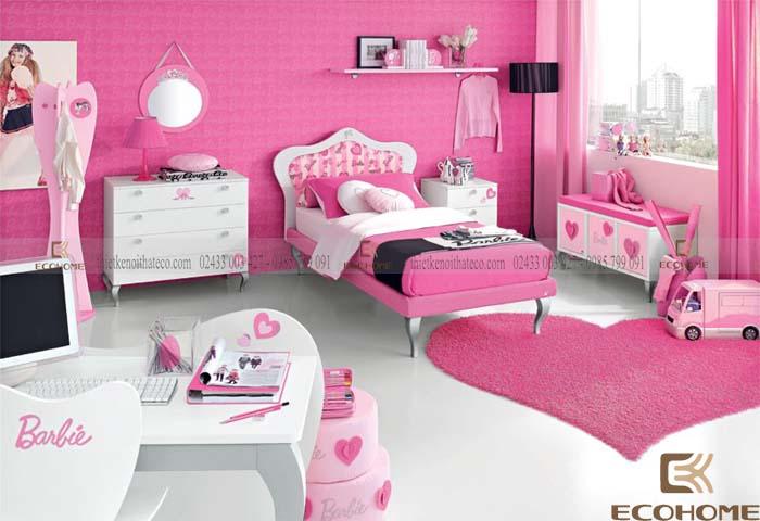 mẫu phòng ngủ cho bé gái 10 tuổi