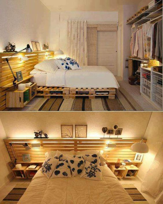 Trang trí nội thất bằng gỗ thông pallet