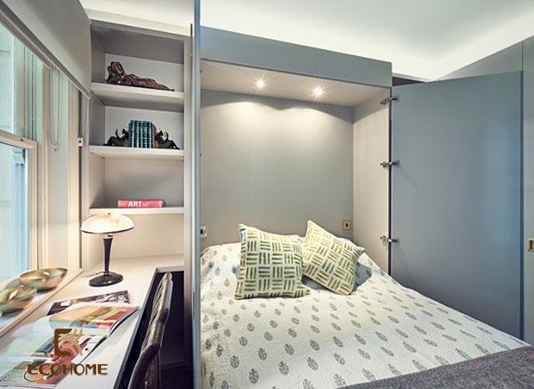 cách bố trí phòng ngủ diện tích nhỏ 10