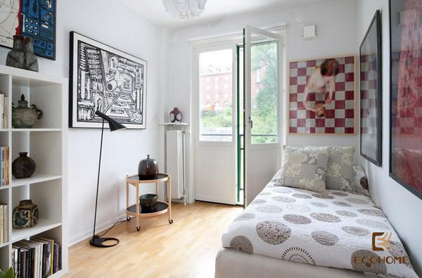 cách bố trí phòng ngủ diện tích nhỏ 7