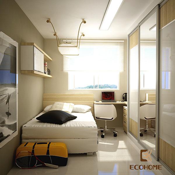 cách bố trí phòng ngủ diện tích nhỏ 8