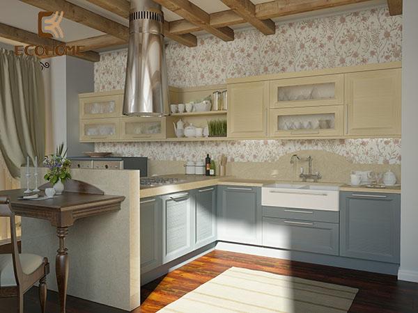 mẫu nhà bếp đẹp ở nông thôn 7