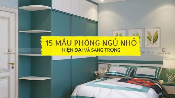 cách bố trí phòng ngủ diện tích nhỏ