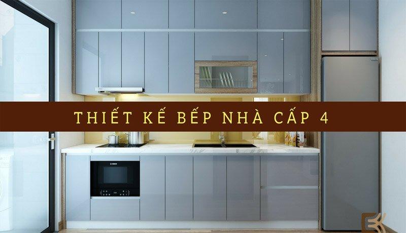 Mẫu thiết kế bếp nhà cấp 4