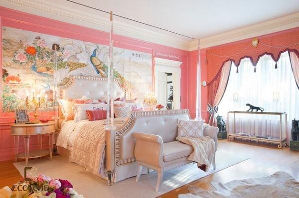 phòng ngủ màu hồng cho bé gái (11)