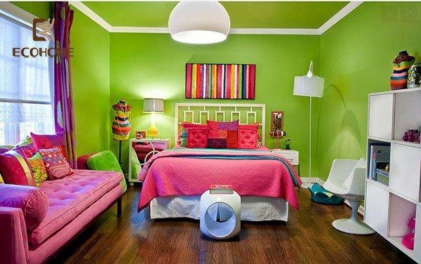 phòng ngủ màu hồng cho bé gái (16)