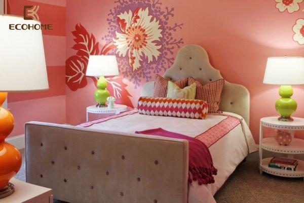 phòng ngủ màu hồng cho bé gái (17)