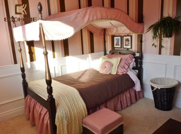 phòng ngủ màu hồng cho bé gái (20)