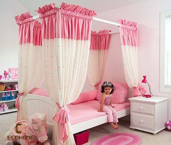 phòng ngủ màu hồng cho bé gái (4)