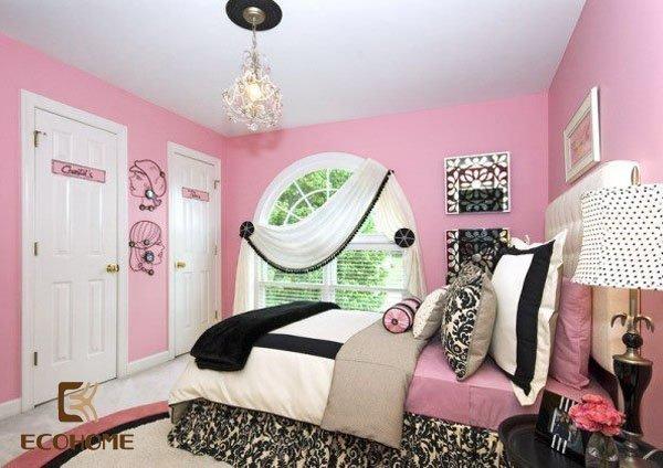 phòng ngủ màu hồng cho bé gái (8)