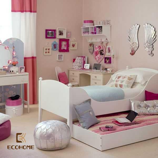 phòng ngủ màu hồng cho bé gái (9)