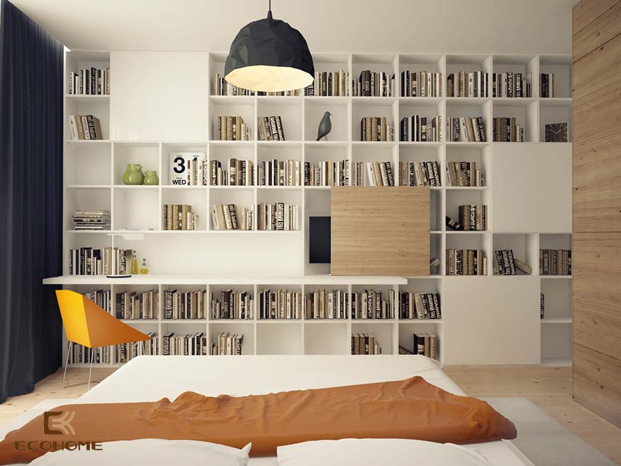 giá sách phòng ngủ 11