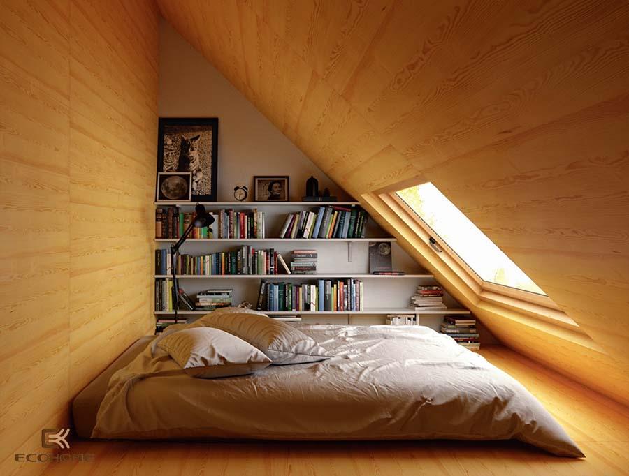 giá sách phòng ngủ 13
