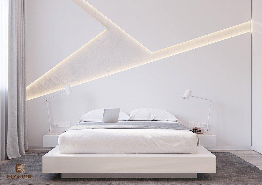 phòng ngủ màu trắng 1