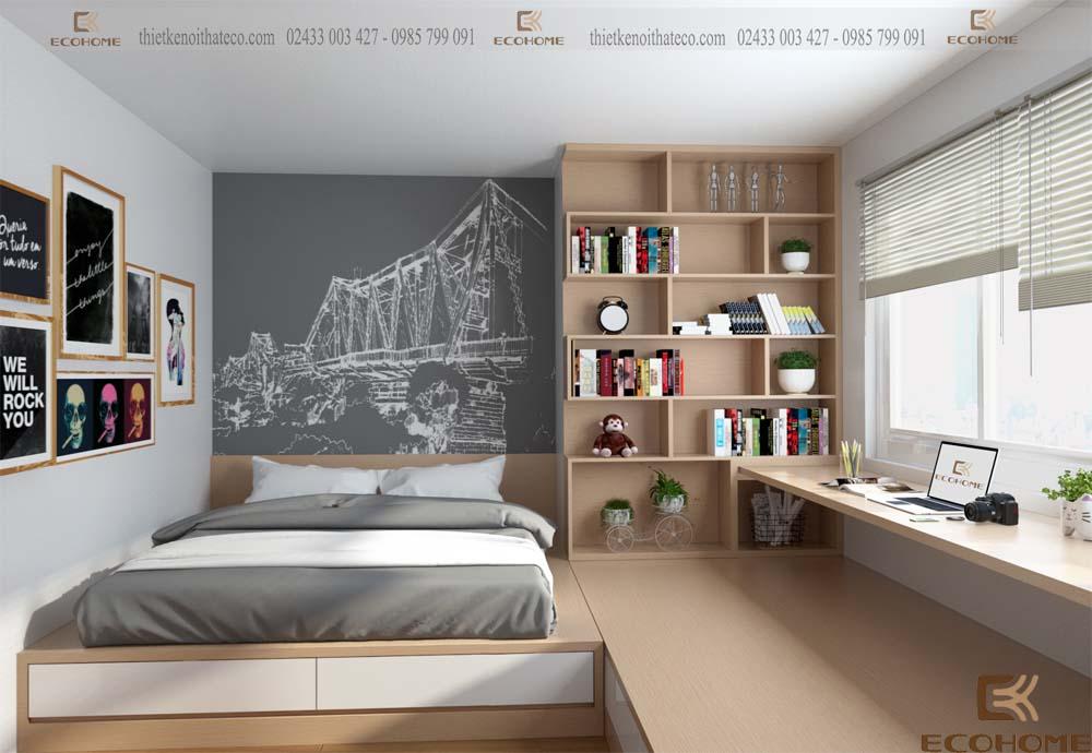 thiết kế nội thất phòng ngủ 43