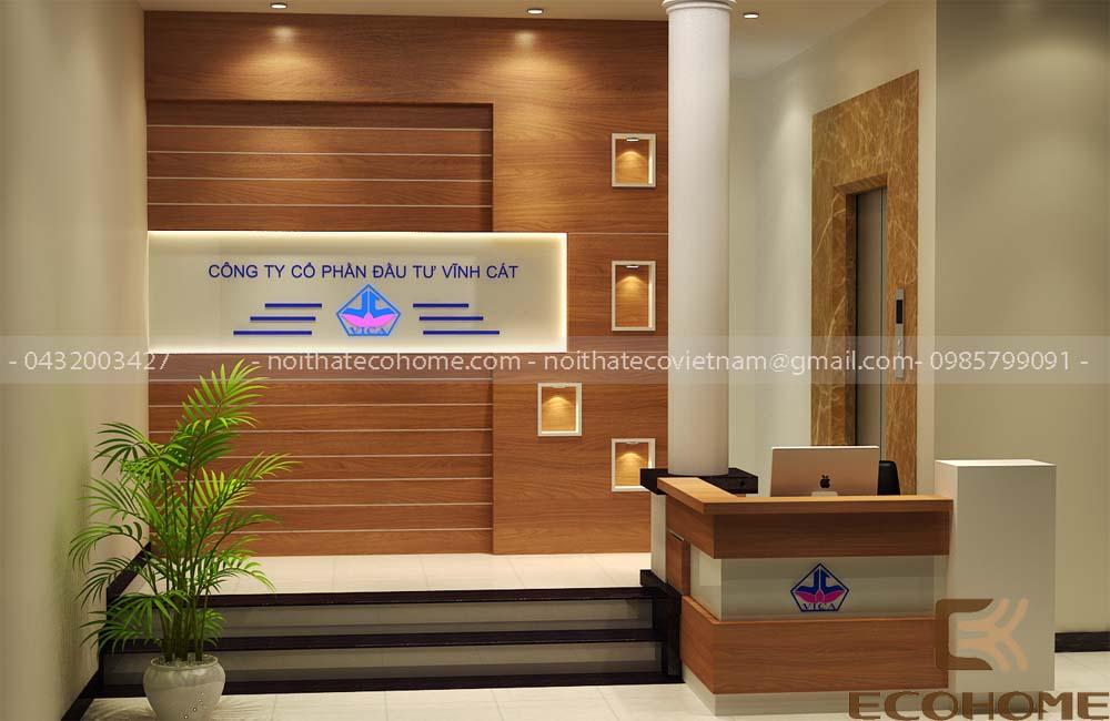 thiết kế nội thất văn phòng công ty đầu tư vĩnh cát 1