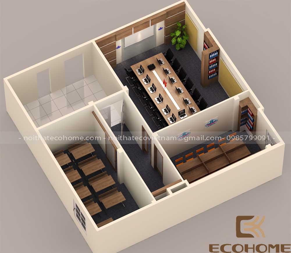 thiết kế nội thất văn phòng công ty cổ phần đầu tư vĩnh cát 11