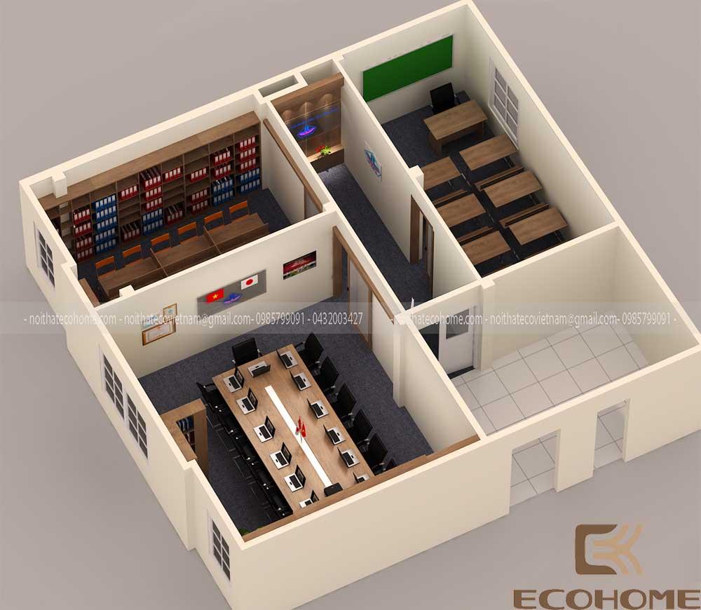 thiết kế nội thất văn phòng công ty cổ phần đầu tư vĩnh cát 12
