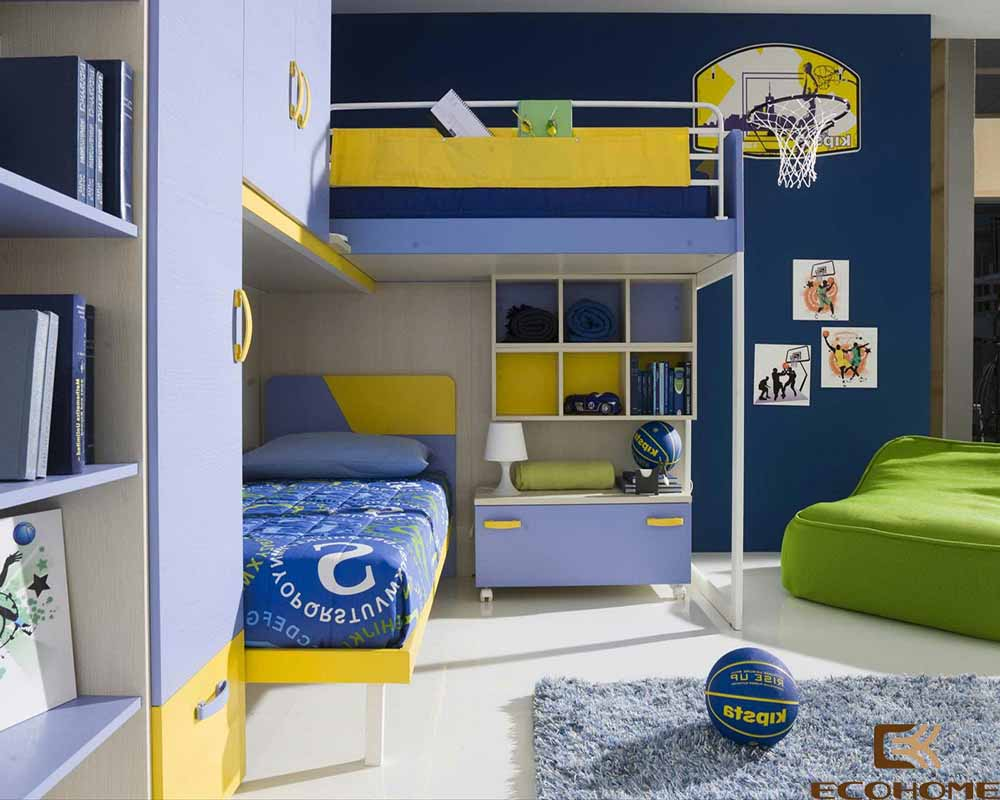 thiết kế phòng ngủ trẻ em với sắc vàng 3