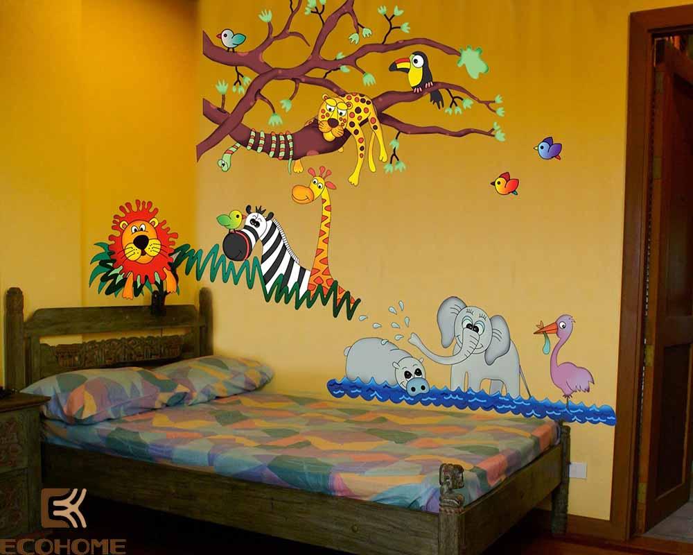 thiết kế phòng ngủ trẻ em với sắc vàng 6
