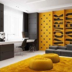 thiết kế phòng ngủ trẻ em với sắc vàng 8