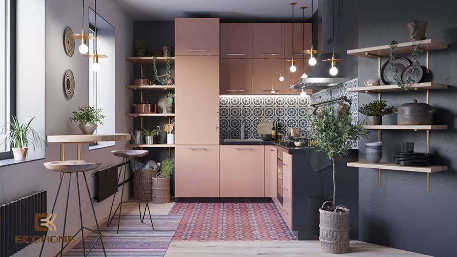 thiết kế tủ bếp chữ L 1
