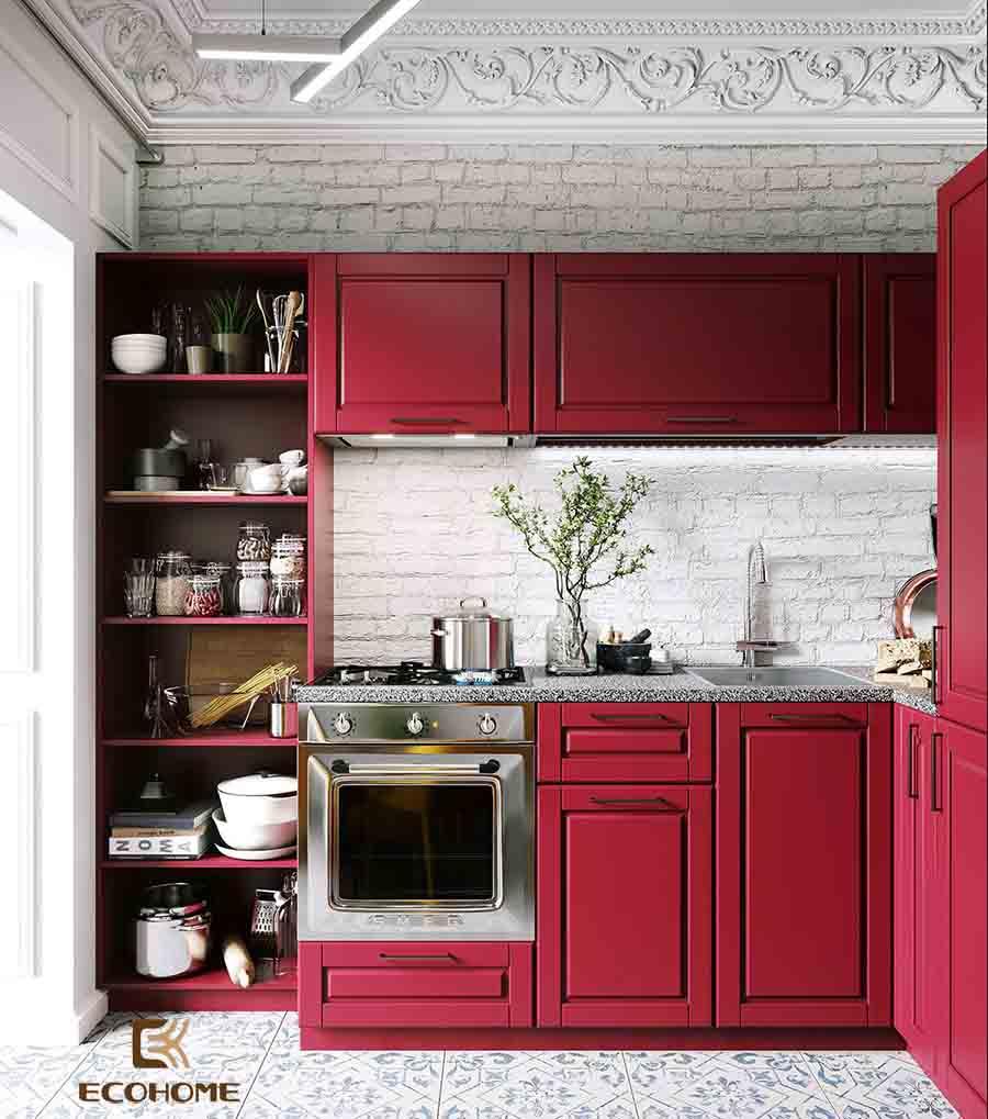 thiết kế tủ bếp chữ L 16