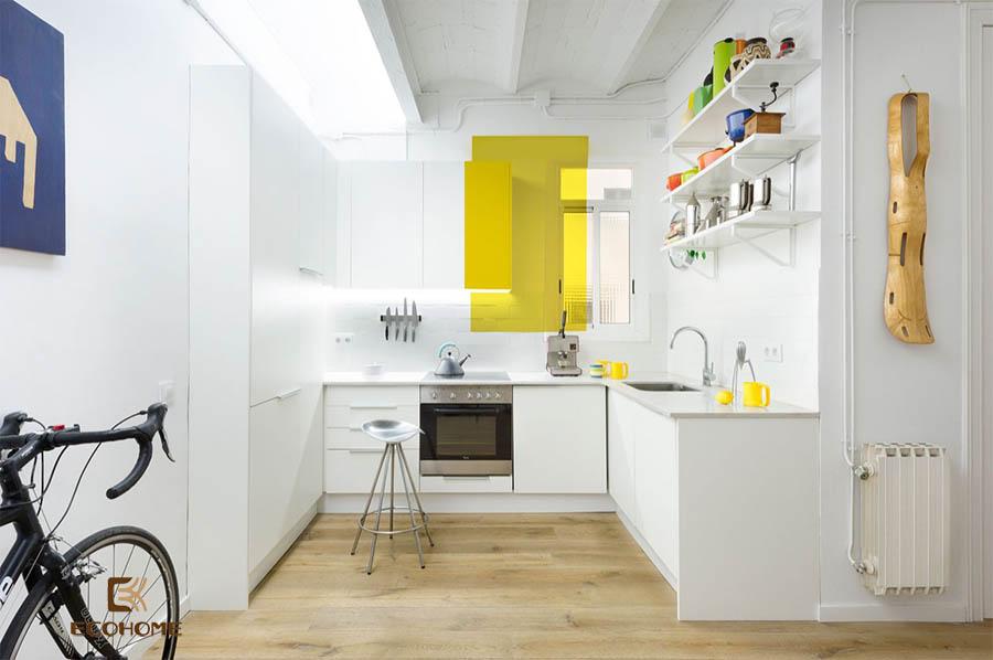 thiết kế tủ bếp chữ L 2