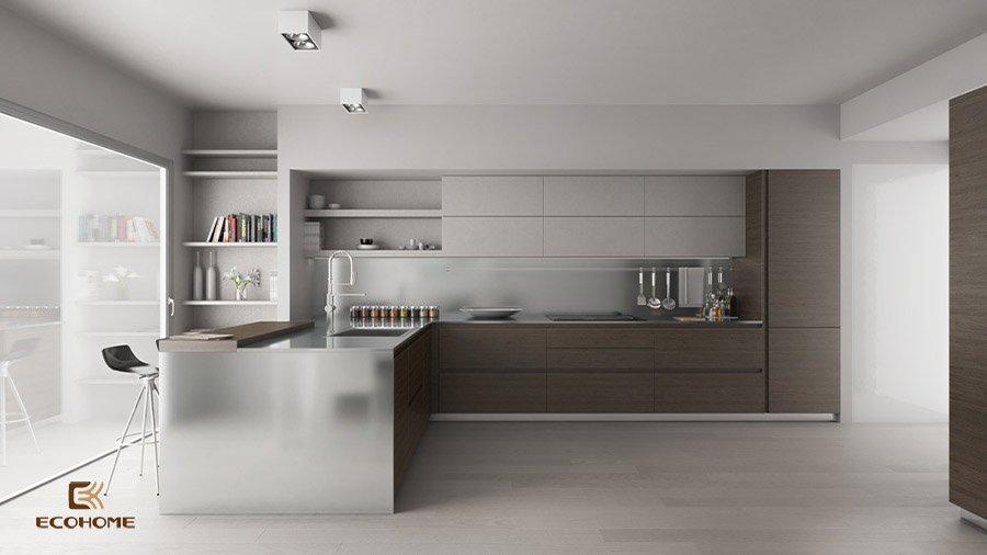 thiết kế tủ bếp chữ L 24