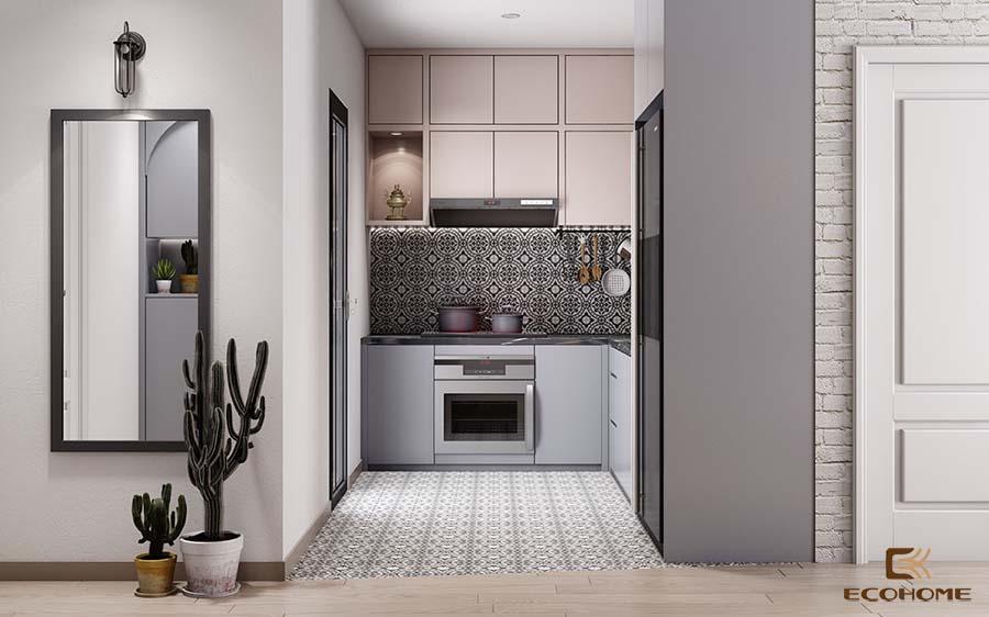 thiết kế tủ bếp chữ L 33