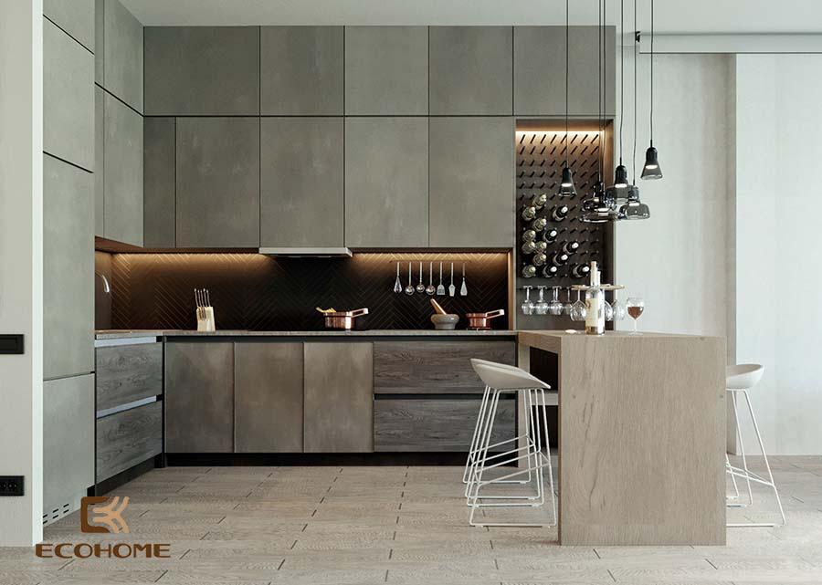 thiết kế tủ bếp chữ L 35