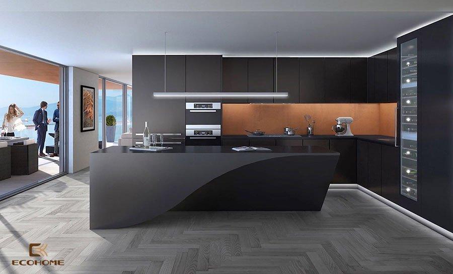 thiết kế tủ bếp chữ L 37