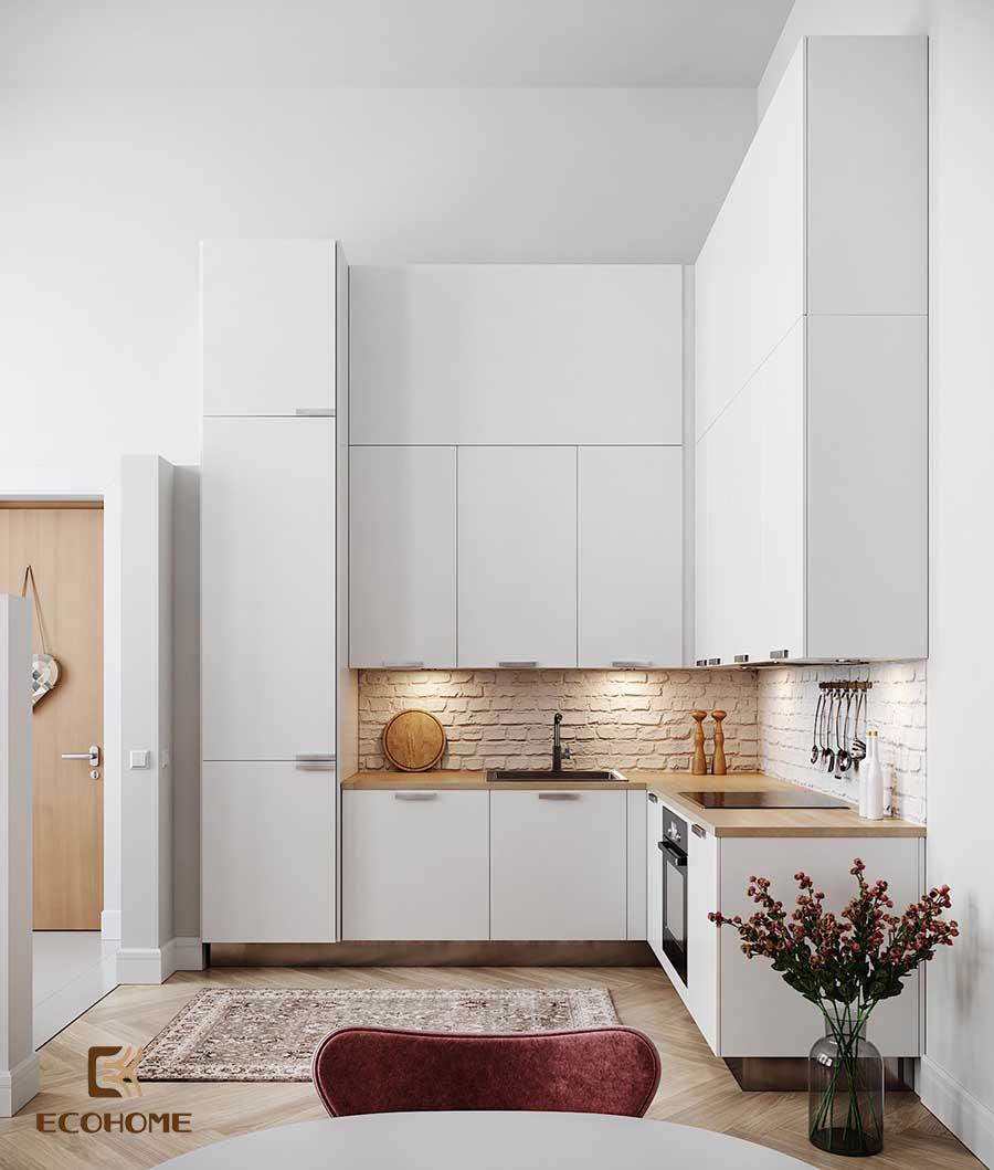 thiết kế tủ bếp chữ L 4