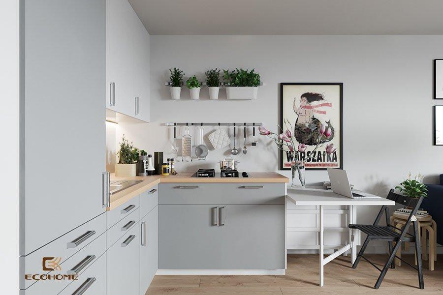 thiết kế tủ bếp chữ L 41