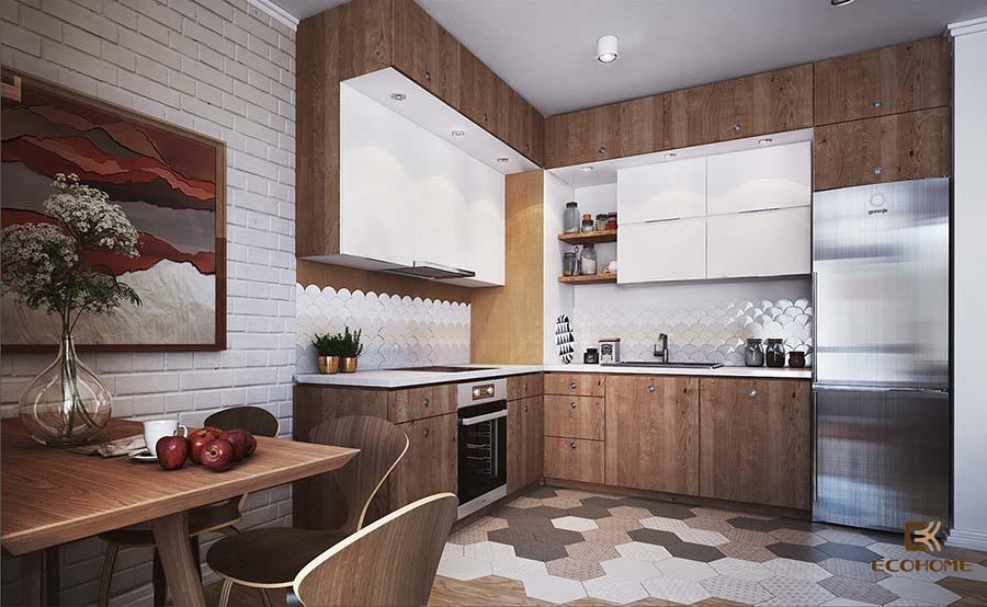 thiết kế tủ bếp chữ L 42