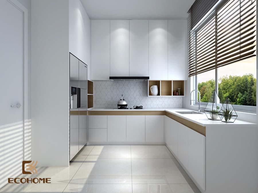 thiết kế tủ bếp chữ L 6