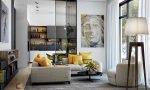 trang trí phòng khách với sắc vàng 1