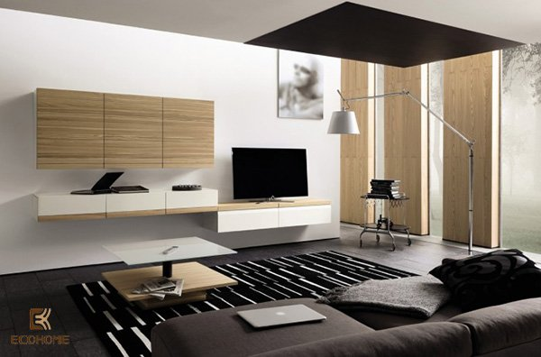 kệ tivi trang trí phòng khách 9