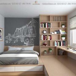 mẫu giường ngủ có ngăn kéo ECO23 (1)