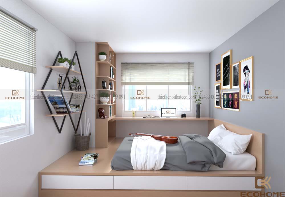 mẫu giường ngủ có ngăn kéo ECO23 (2)